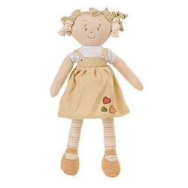 BabyOno Látková panenka EKO Lily - béžová
