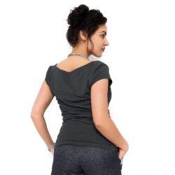 Mamitati Balónová sukně NELLY - jeans denim granát/ růžové
