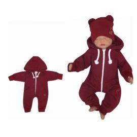 JOŽÁNEK Nosící fleecová mikina - pro nošení dítěte ve předu - růžový