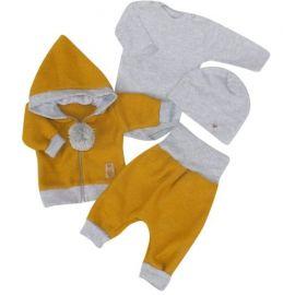 Baby Nellys Kojící polštář - relaxační poduška Multi Cute Owls - béžový