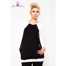 Gregx Elegantní těhotenské kalhoty JEANS - granátový melír