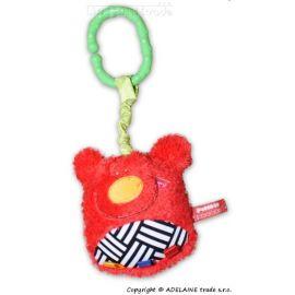 BabyOno Bavlněné protiskluzové froté ponožky 12m+ - kárko červené/oranž