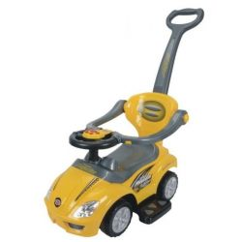 Euro Baby Odstrkovadlo, odrážedlo 3v1 AUTO - žluté