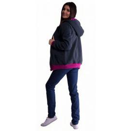 Baby Nellys Body dlouhý rukáv vel. 86, Ano, vypadám jak tatínek - bílé/růžový lem - 86 (12-18m)