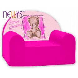 Dětské křeslo Nellys - Sweet Dreams by Teddy - růžová, B19