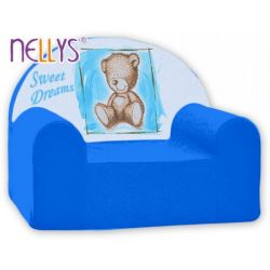 Dětské křeslo Nellys - Sweet Dreams by Teddy - modrá, B19