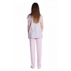 Bavlněné pyžamko NICOL AUTO - melír sv. modrá/tm. šedá - 80 (9-12m)
