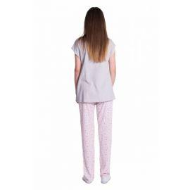 Bavlněné pyžamko NICOL SUPERSTAR - melír růžová/tm. šedá - 80 (9-12m)