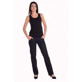 Bavlněná sada čepička a nákrčník s lebkami Baby Nellys ® - tm. modrá - 50/52 čepičky obvod