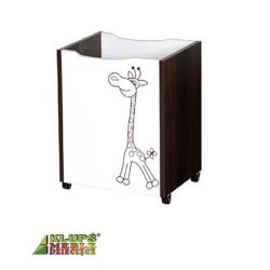 Box na hračky Safari Klups Safari - ecru/ořech