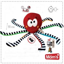 Hencz Toys Edukační hračka s tlukotem srdce Hencz CHOBOTNIČKA - červená