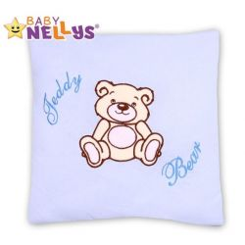 Baby Nellys Polštářek 40x40 Teddy Bear - sv. modrý
