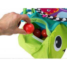 Little FROG Tkaný šátek na nošení dětí s bambusem - Bamboo Turquoise - XXL (44)