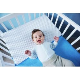 Baby Nellys Zvýšená poloha - Klín - minky bílá